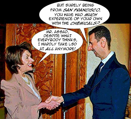Pelosi and Assad