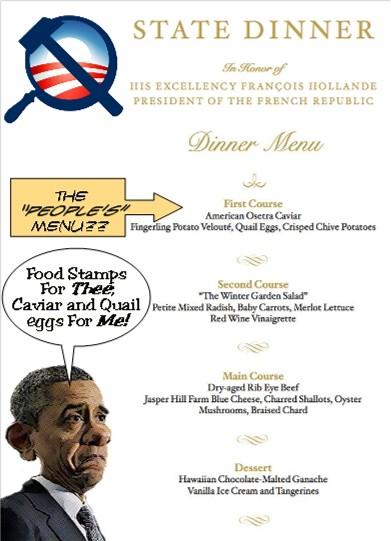 Socialist Dinner Menu