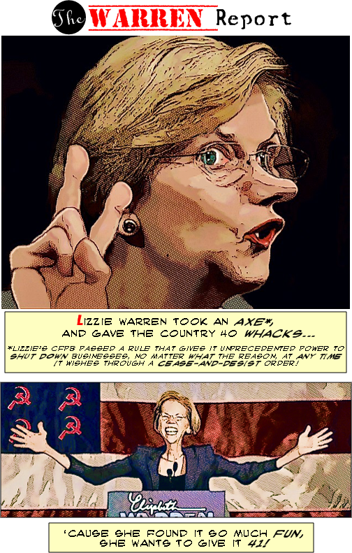 Lizzie Warren Took An Axe