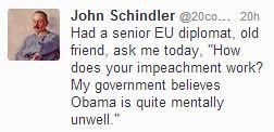 Schlindler Tweet