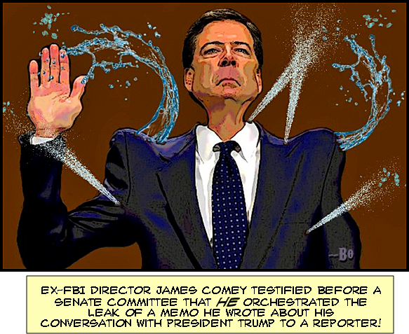 Image result for leaker liar comey cartoon